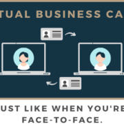 Virtual business card image banner